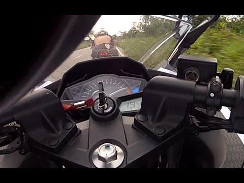 Kawasaki Ninja 300 - Top Speed 194 / 195 km/h (na reta e no vácuo da CB 500) Brazil