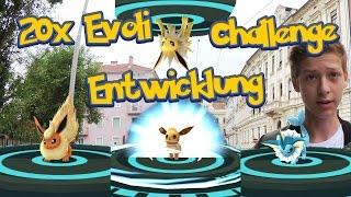 20x Evoli Entwicklung Challenge! Relaxo und Garados fangen?! • Pokemon Go deutsch