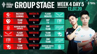 Group Stage APL 2020 | Week 4 Day 5