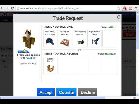 How to send trade on roblox