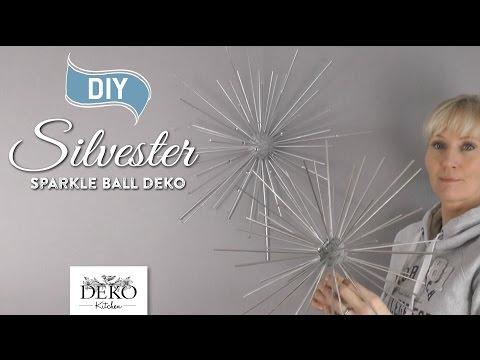 DIY: funkelnde Silvesterdeko mit großen Sparkle-Balls [How to] | Deko Kitchen