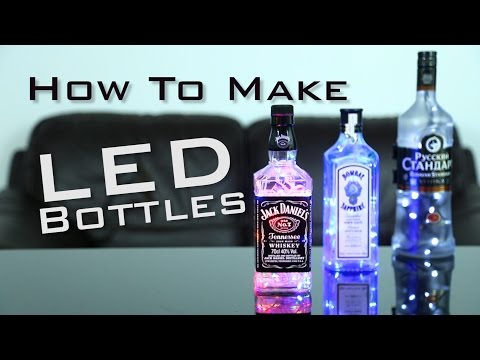 DIY: HOW TO MAKE LIGHT UP BOTTLES   Super Simple