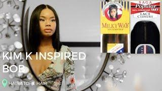 BEST HAIR STORE HAIR -   Milky Way Remy Hair & Saga Popular Lace Closure