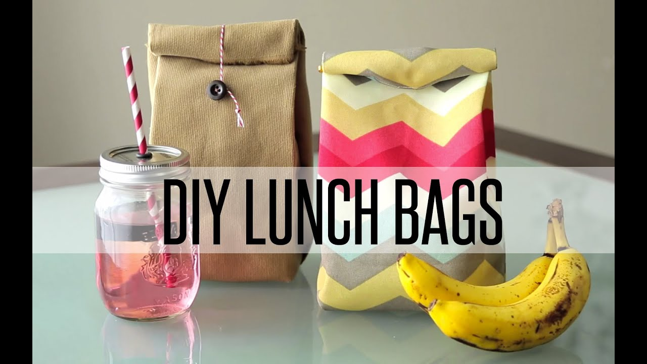 Diy Reusable Lunch Bag Paper Bag Youtube