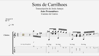 Sons de Carrilhoes - Pernanbuco Tablatura por Jesús Amaya...