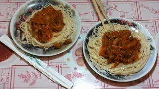 """Очень вкусные спагетти с мясом и овощами.""""Spagetti a la Ma Di"""".Мясо.Как приготовить мягкое мясо."""
