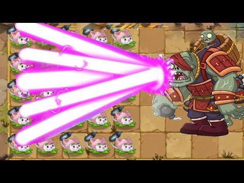 Plants vs Zombies 2 Epic Hack Cattail vs Kung Fu World FINAL BOSS