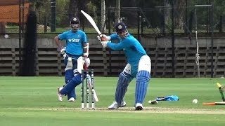 2015 World Cup: Dhoni, Virat practice hitting sixes