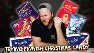 TRYING FINNISH CHRISTMAS CANDY | Taste Test Tuesday