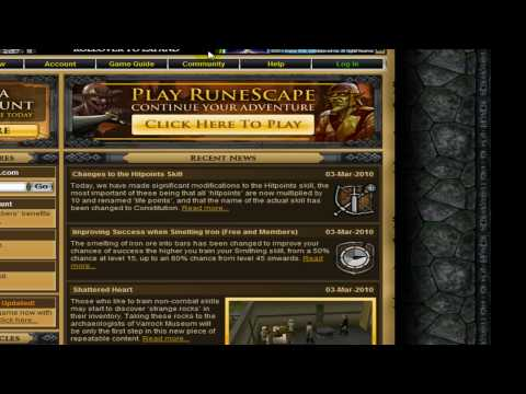 Runescape Update Constitution Skill, New Quest, New Login. Commentary 3/3/2010