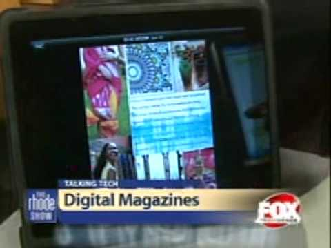 Zinio CMO, Jeanniey Mullen, on The Rhode Show (FOX, Providence) RE: Digital Reading on iPad