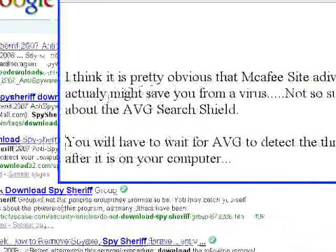 AVG Search Shield vs Mcafee Site Advisor