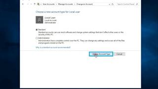 How to delete remove administrator and standard user account Windows 10
