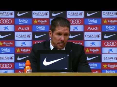 "Diego Simeone: ""Noch alle Chancen"" | FC Barcelona - Atletico Madrid 1:0 | Copa del Rey"