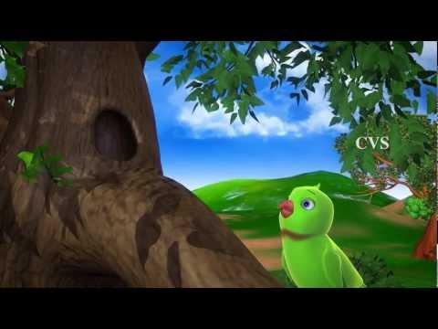 Chitti Chilakamma Parrots 3D Animation Telugu Rhymes for children with lyrics
