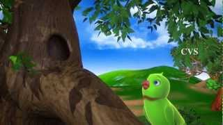 Amma 3D - Chitti Chilakamma Parrots 3D Animation Telugu Rhymes for children with lyrics