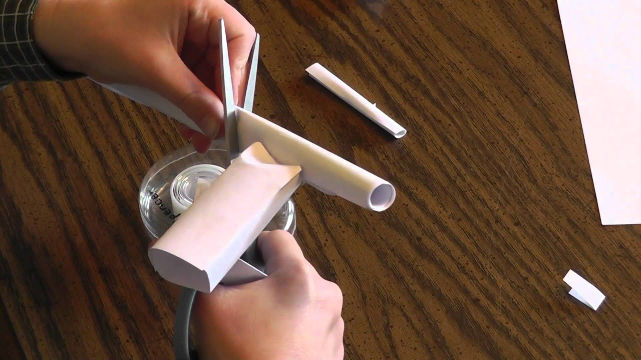 Paper Rubber Band Gun