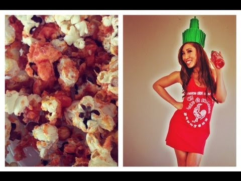 Sriracha Popcorn Recipe | FOOD BItes