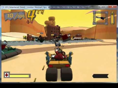 Cel Damage Overdrive on PCSX2 0.9.7 - Playstation 2 Emulator