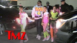 Diddy And His Twin Girls Roll Up For Their Birthday Party | TMZ