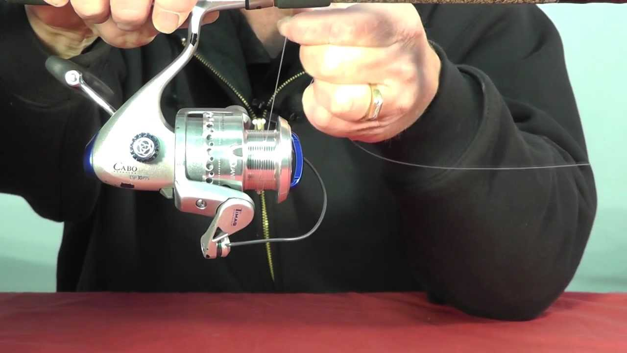 how to tie mono and braid fishing line to spinning reel