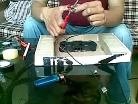 ventilador para laptop casero