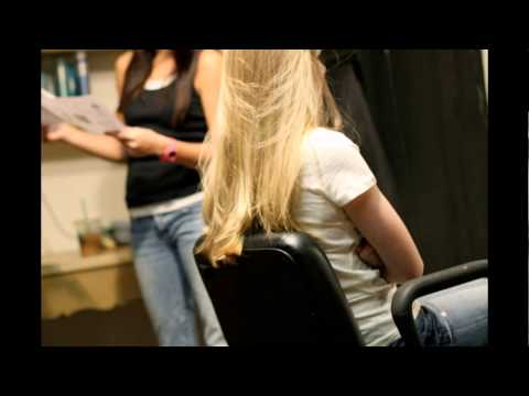 long to short haircut on two beautiful girls(press like for blonde , dislike bru