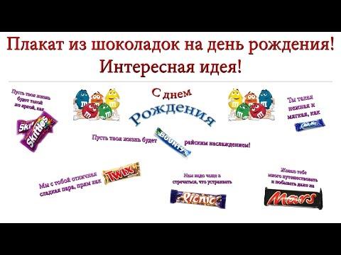 Плакаты с поздравлениями со сладостями 964