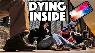 WAITING IN LINE FOR iPHONE X