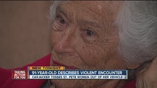 A 91-year-old woman describes her violent boon carjacking