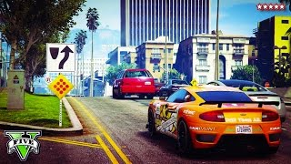 GTA 5 Fun EPIC Races W/ THE CREW - GTA5 First Person Jumps, Stunts & Races