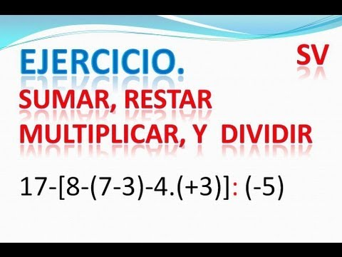 A.2.4.4. Ejercicio operaciones combinadas. Sumar,restar,multiplicar y dividir.
