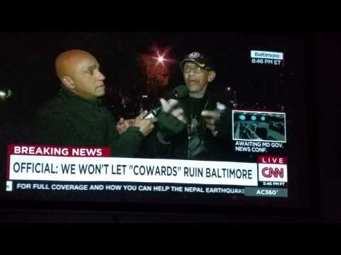 Words of wisdom from Robert Valentine during Baltimore city riots.