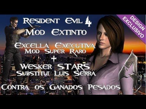 Resident Evil 4 -Mods Resgatados- Excella Gionne Executiva (Mod Extinto) e Wesker (Luis Serra).