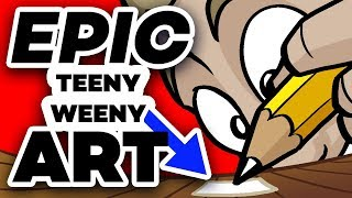EPIC TEENY WEENY ART: ULTRA ZOOM!! - Feat. NerdECrafter