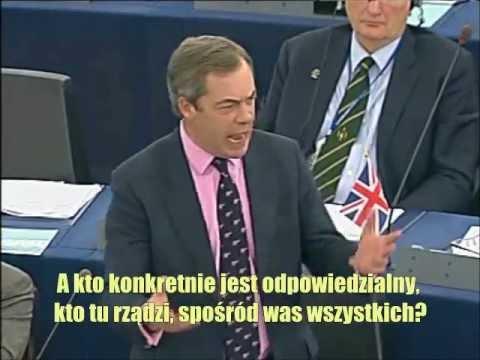 Nigel Farage do przywódców UE: Żyjemy w Europie zdominowanej przez Niemcy, a wy macie w tym udzia�. Ca�ó�� tekstu wypowiedzi tutaj: http://wp.me/p1CI1T-1Q � ...