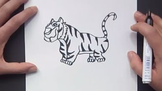 Como dibujar un tigre paso a paso 8 | How to draw a tiger 8