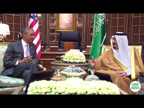 Obama is received by King Salman as he arrives in KSA