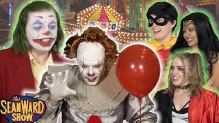 JOKER vs PENNYWISE! hilarious IT parody with Superheroes! The Sean Ward Show