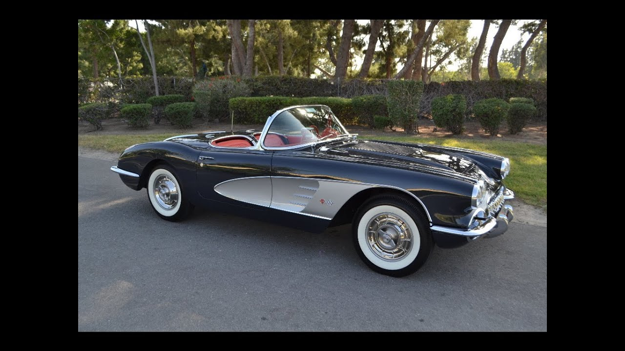 Sold 1958 Chevrolet Corvette Convertible Charcoal Youtube