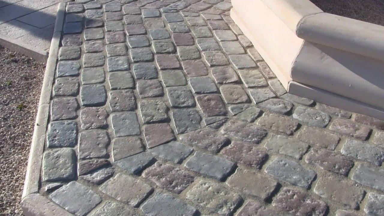 Pav s de rue multicolores en pierre reconstitu e de bourgogne youtube - Corniche en pierre reconstituee ...