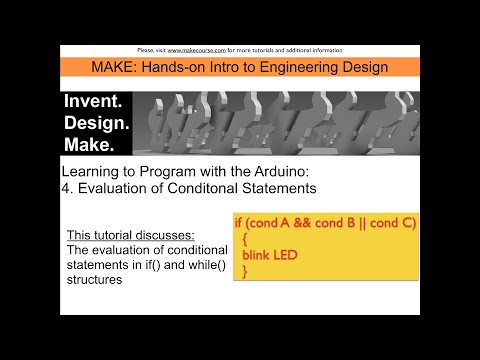 Learning Programming Video 4: Evaluation of Conditionals in Control Structures