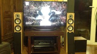 ONKYO TX-DS595 AV RECEIVER, GALE 40 SERIES SPEAKERS and GALE 30 SERIES 3070 SUB
