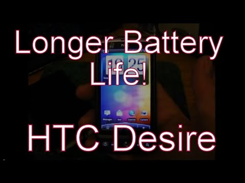 How To Get Longer Battery Life On The HTC Desire Google Android Smartphone