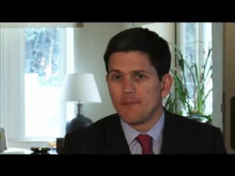 David Miliband on UK policy toward Palestine and Israel.