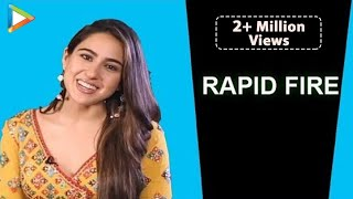 "Sara Ali Khan: ""Shah Rukh Khan, how are you just so amazing?"" | RAPID FIRE | Kedarnath"
