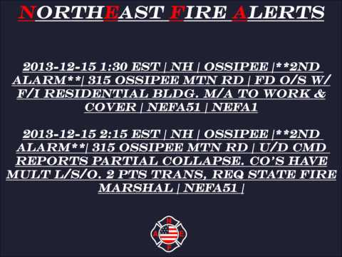 2013-12-15 NH | OSSIPEE | 2ND ALARM | 315 OSSIPEE MOUNTAIN RD