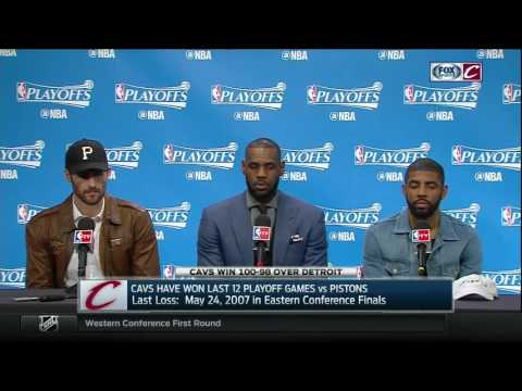 LeBron James has strong words of support for Kevin Love & Kyrie Irving after Cavaliers' sweep