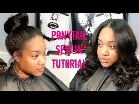 FULL VIDEO! HOW TO DO A PONYTAIL SEW IN | IAM_NETTAMONROE