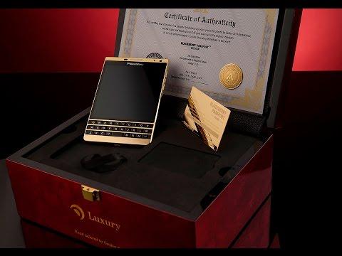 BlackBerry Passport Silver 24K Gold Edition - Golden Ace International